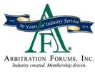 Our Affiliate, Arbitration Forumns, Inc